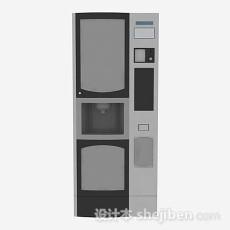 灰色电冰箱3d模型下载