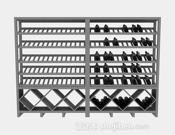 灰色酒柜架