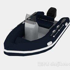 电动皮艇3d模型下载