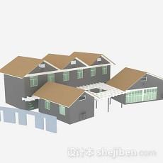 现代房屋3d模型下载