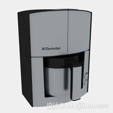 灰色咖啡机3d模型下载