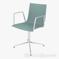 绿色简约办公椅3d模型下载