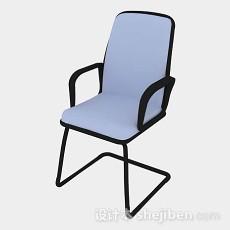 蓝色休闲椅3d模型下载