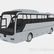 灰色大巴车3d模型下载