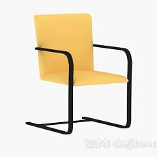 黄色休闲椅子3d模型下载