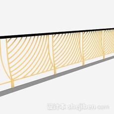 黄色栏杆3d模型下载