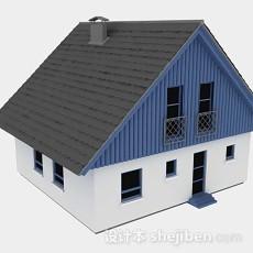 蓝色小木屋3d模型下载