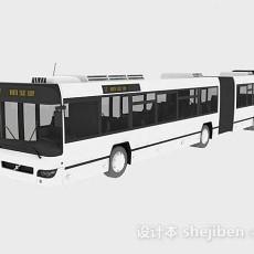 白色公交车3d模型下载