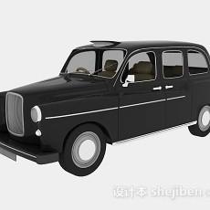 黑色复古小汽车3d模型下载