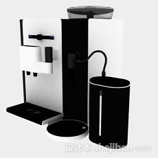 黑白咖啡机3d模型下载