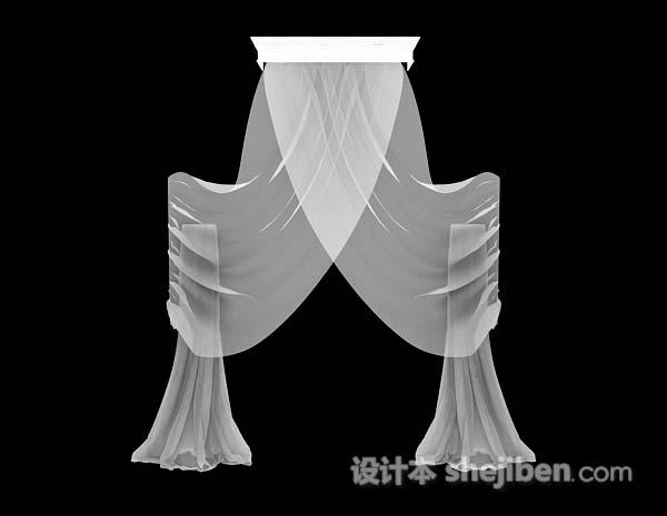 白色纱质窗帘