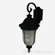 欧式黑色庭院灯3d模型下载