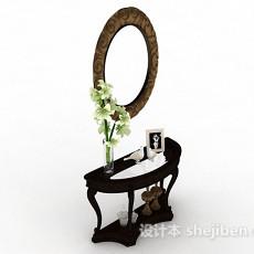欧式复古梳妆台3d模型下载