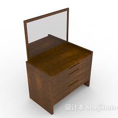 木质简单梳妆台3d模型下载