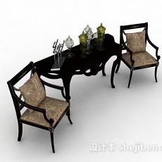 欧式木质家居椅3d模型下载
