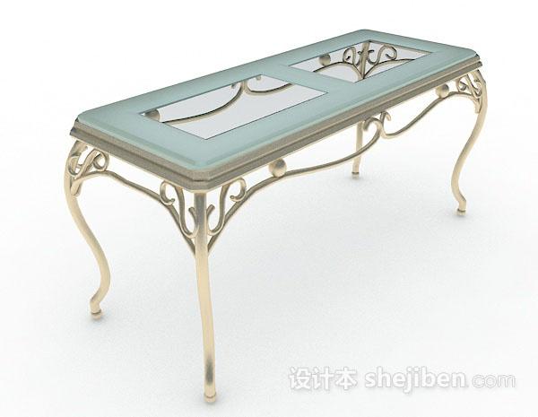 欧式长方形餐桌