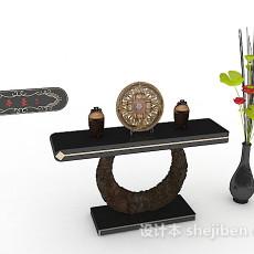 中式客厅摆设3d模型下载