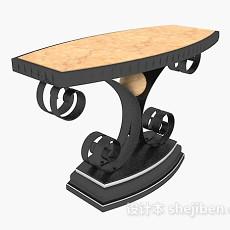 大理石餐桌3d模型下载