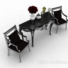 欧式灰色家居椅子3d模型下载