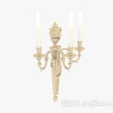 欧式黄色烛台灯3d模型下载