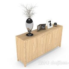 木质黄色装饰厅柜3d模型下载