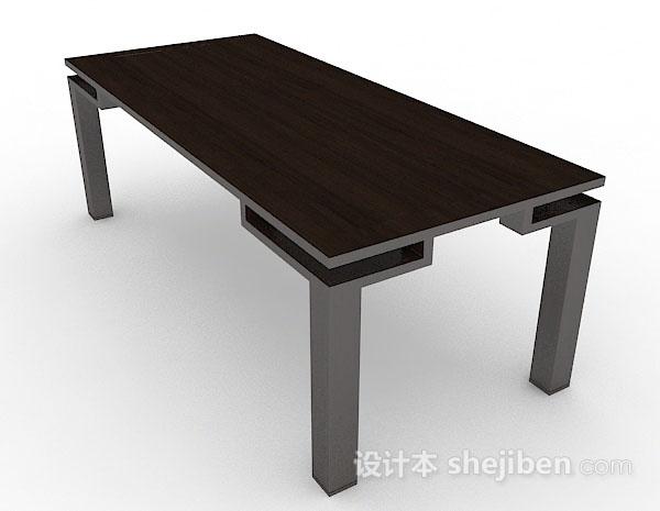 木质长方形茶几