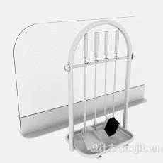 灰色壁炉清理工具3d模型下载