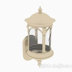 黄色庭院灯3d模型下载