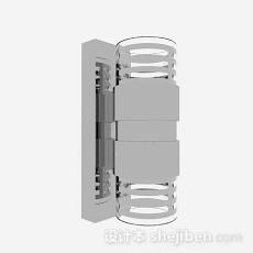 灰色壁灯3d模型下载
