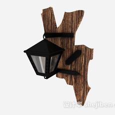 黑色庭院灯3d模型下载