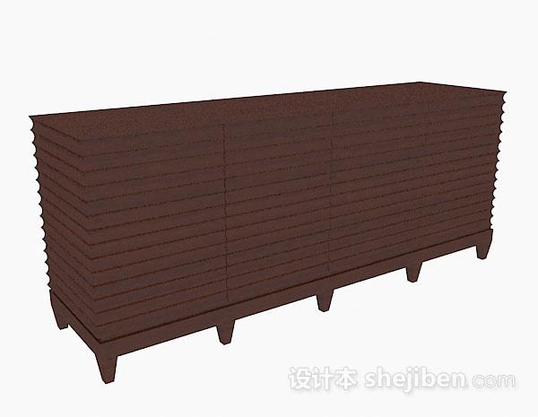 简约木质棕色玄关柜