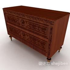中式雕花储物柜3d模型下载
