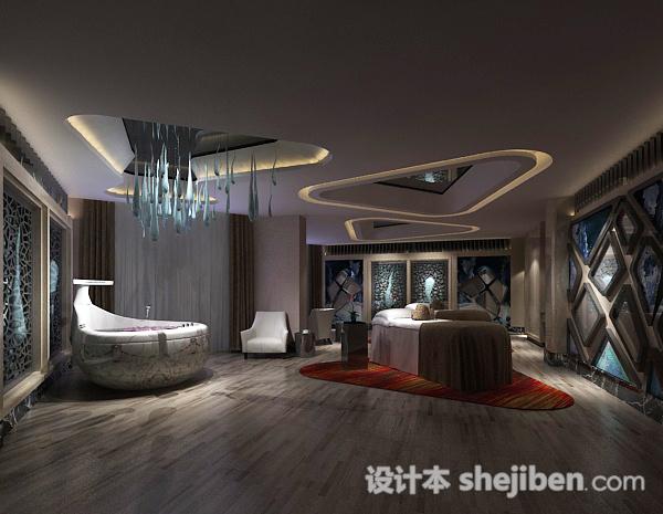 现代大浴室3d模型