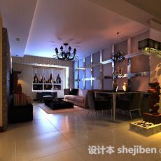 现代家居客厅3d模型下载