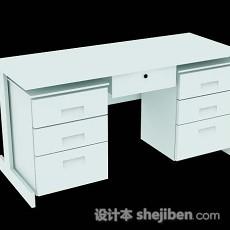 简约办公桌3d模型下载
