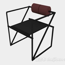黑色休闲椅3d模型下载