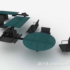 办公桌椅组合3d模型下载