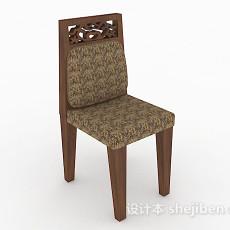 中式木质家居椅3d模型下载