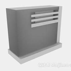 灰色班台3d模型下载