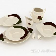 家居餐具3d模型下载