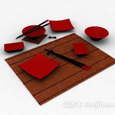日式餐具3d模型下载