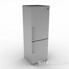 灰色冰箱3d模型下载