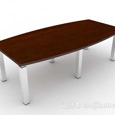 木质会议桌3d模型下载