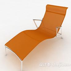 橙色简约休闲椅3d模型下载