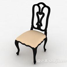 黑色家居椅3d模型下载