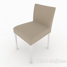 棕色简约家居椅子3d模型下载