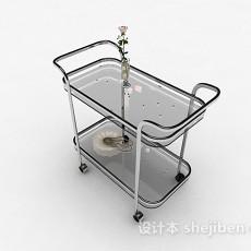 玻璃移动餐桌3d模型下载