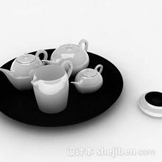 简约茶具3d模型下载