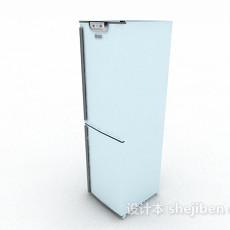 白色冰箱3d模型下载