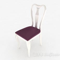 紫色家居椅3d模型下载